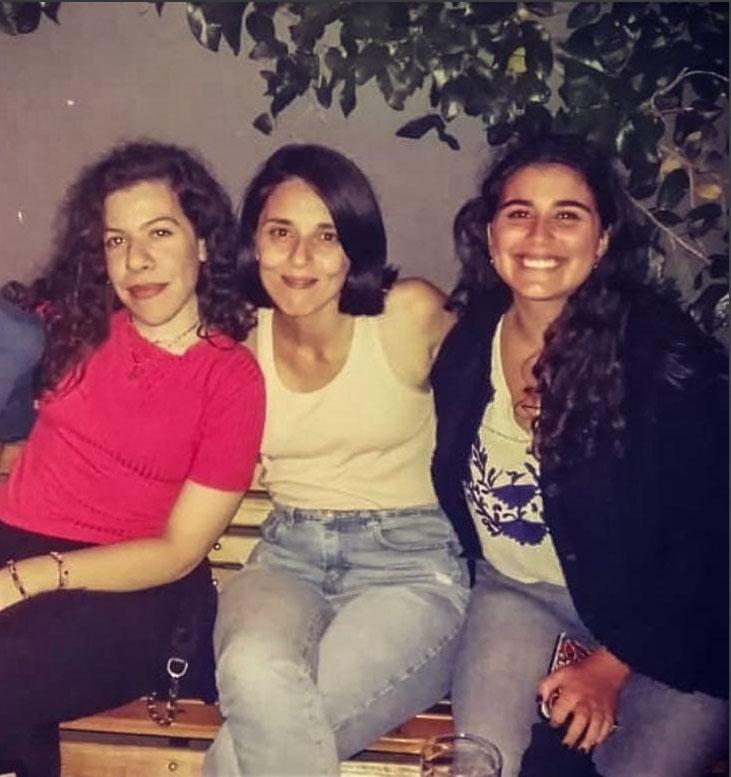 Club Bronte - De izq. a der., Camila Bono, Gaby Serbin y Arami Morelli